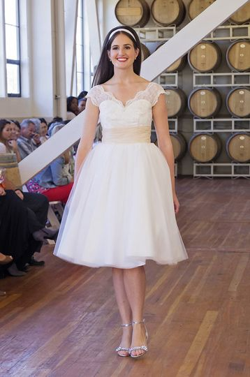 The Avila Bay with Tulle Skirt  This gown features a sweetheart neckline, princess seams and trimmed...