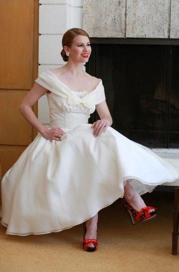 The EdmontonClassic and reminiscent of the best fashions of the mid-Century...this gown was inspired...