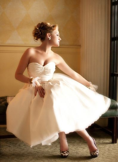 "Possibly the sweetest wedding dress that ever was. ""Summerville,"" made from billowy organza has..."