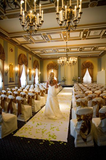 Marines' Memorial ballrooms are easily converted for wedding ceremonies up to 250 people