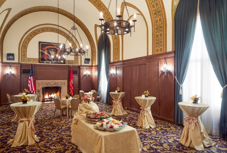 Smaller rooms are available for intimate wedding receptions and rehearsal dinners