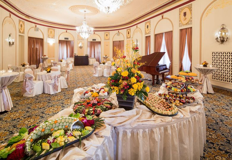 Heavy hors d'oeuvres receptions are also popular instead of a traditional sit down dinner