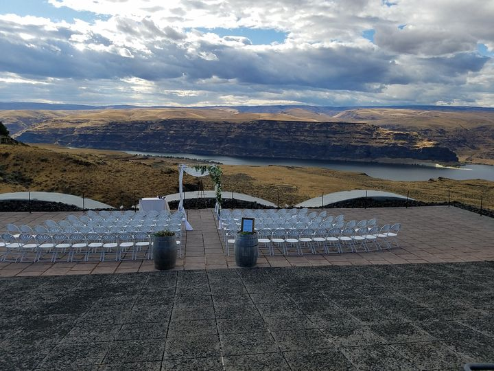 Wedding space with a view