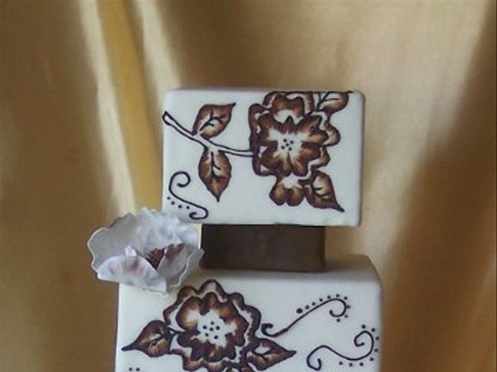 Tmx 1255532820834 BrownBrushedEmbroidery Dover wedding cake