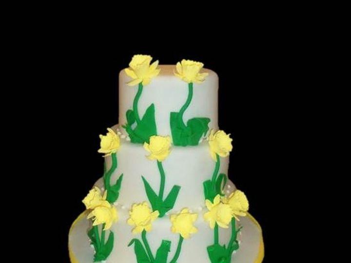Tmx 1382623453910 Daffodils 2 Dover wedding cake