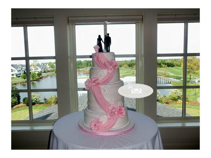 Tmx 1382623488589 Pretty Pinkness Dover wedding cake