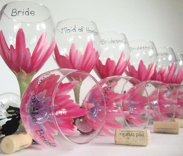 Hand painted dishwasher safe glassware from http://www.JudiPaintedit.etsy.com