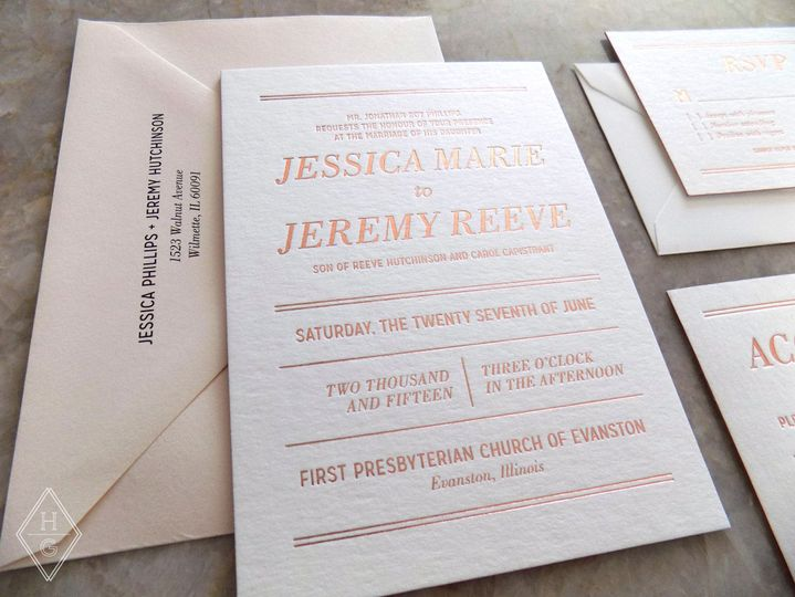 modern romantic wedding invitations by hello gypsy