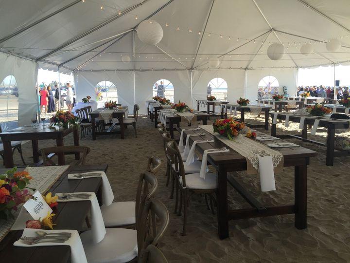 40x80 Tent   Farm Tables