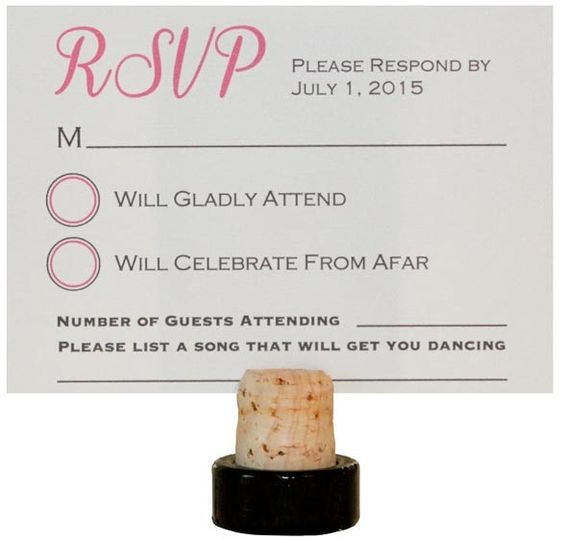 Pink and Gray RSVP Card