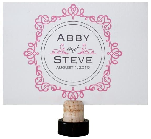Pink and Gray Save the Date Postcard -- Front