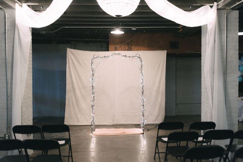 Wedding ceremony stage