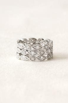 Set of 3 Stackable Deco Rings - Sizes 5-9
