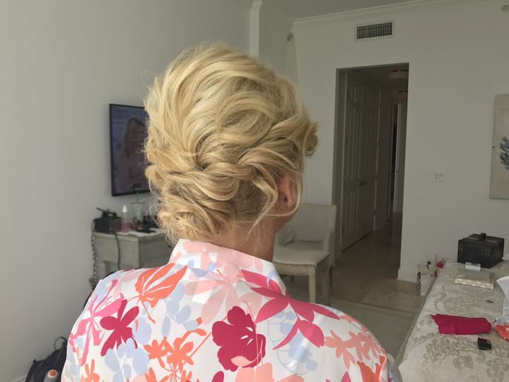 Bridal hair in progress