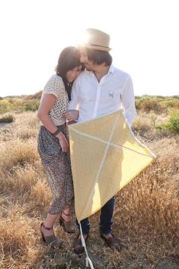 Such a fun romantic and vintage inspired engagement session out in the wild flower trails in San...