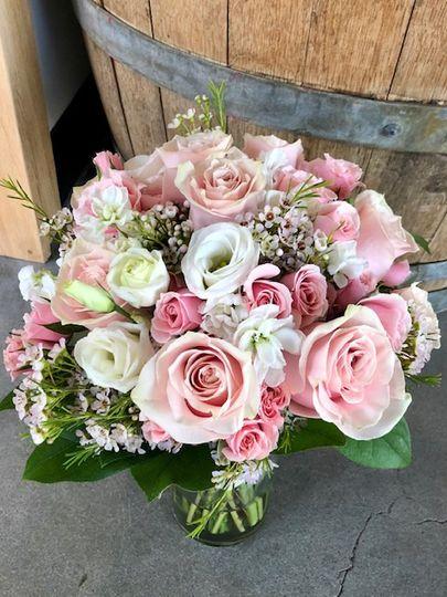 Think Pink!  Bridal bouquet