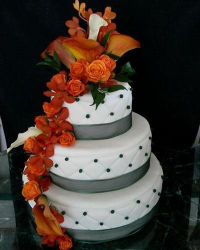 Tmx 1236624257626 Orange Drapped Flowers L Bradenton, FL wedding cake