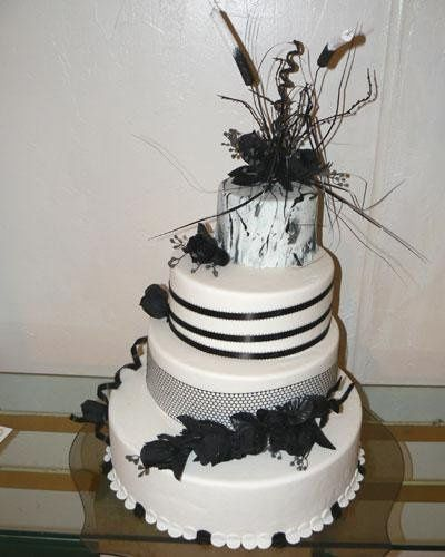 Tmx 1236624644672 Black White L Bradenton, FL wedding cake
