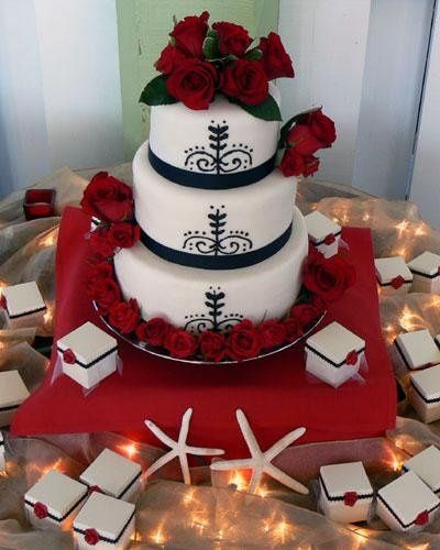 Tmx 1236624861329 Roses Blk Ribbon L Bradenton, FL wedding cake