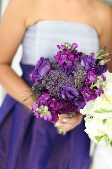 Violet flower arrangement
