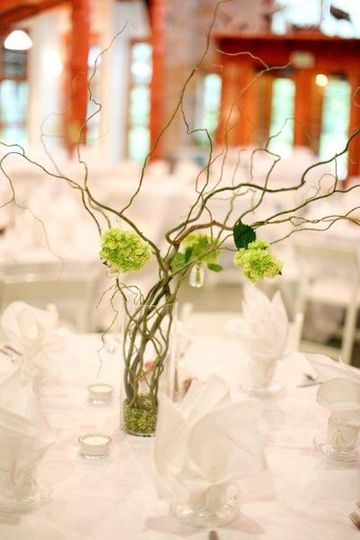 Twigs as centerpieces