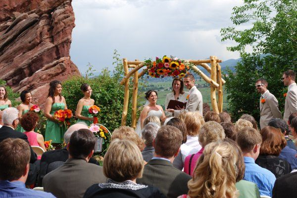 Red Rocks (Chuppah property of Colorado Commitments, available for rental)