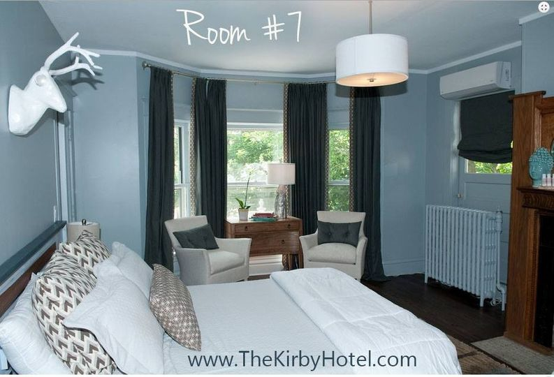 The Kirby has 6 rooms and a junior suite.  Book the hotel and your party can last all night long.