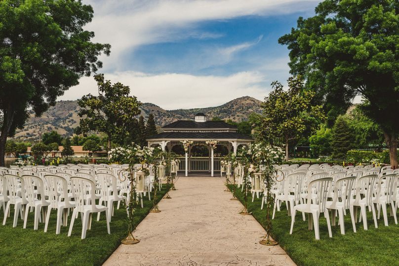 Ceremony in the wedding garden
