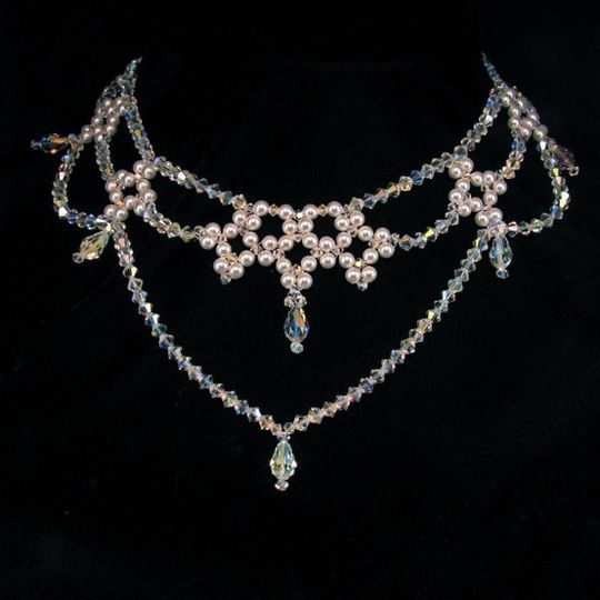 The Nicole Bridal Choker created with Swarovski crystals and pearls....