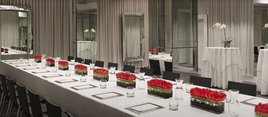 Long dining setup