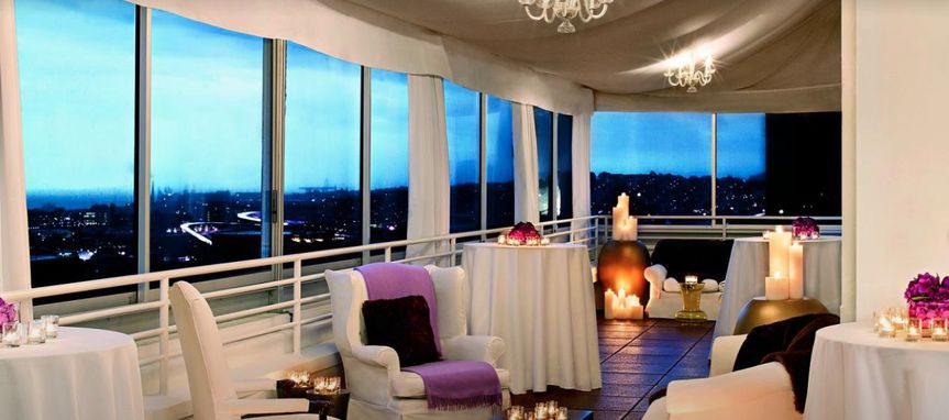 Reception space with a view
