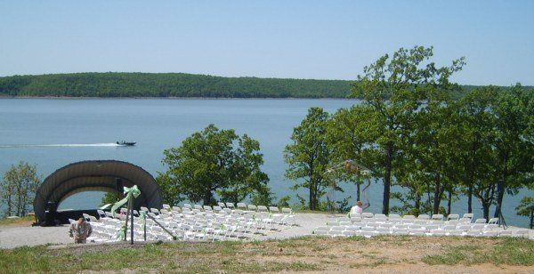 Outdoor ceremony sound system at Skiatook Lake, Skiatook Oklahoma.  North of Tulsa, South of...