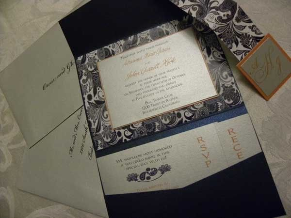 Perfectly Paisley invitation Suite