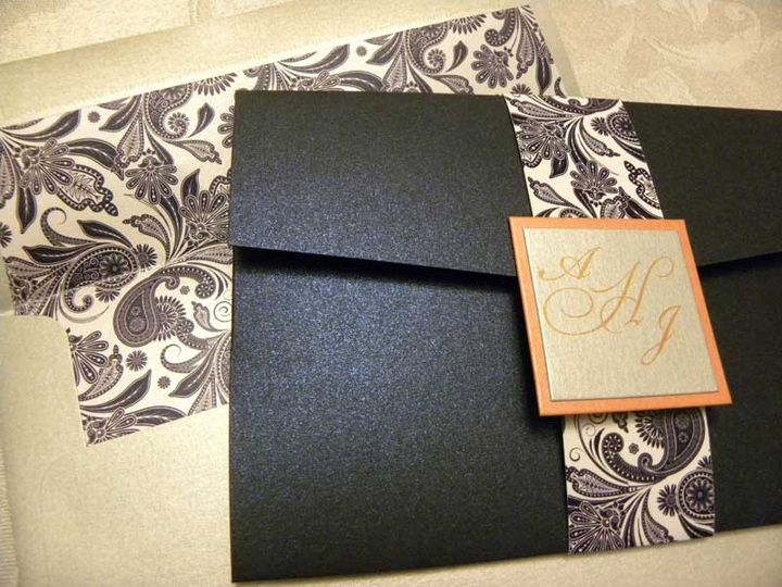 Outside view of Perfectly Paisley Invitation