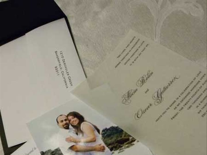 Tmx 1371184946334 Alicia And Oscar Bakersfield wedding invitation