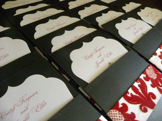 Tmx 1371185421481 Red Damask Bakersfield wedding invitation