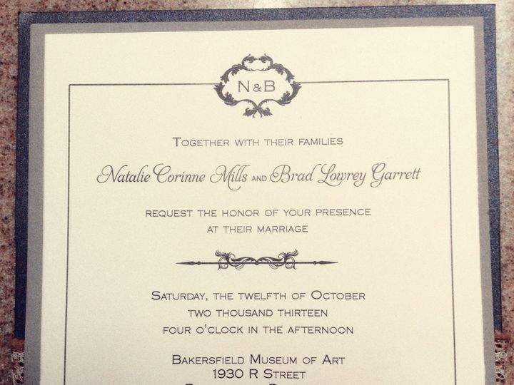 Tmx 1391155441844 Mills Garrett Invitation Fron Bakersfield wedding invitation