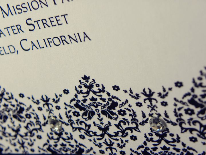 Tmx 1391157485981 Damask Up Clos Bakersfield wedding invitation
