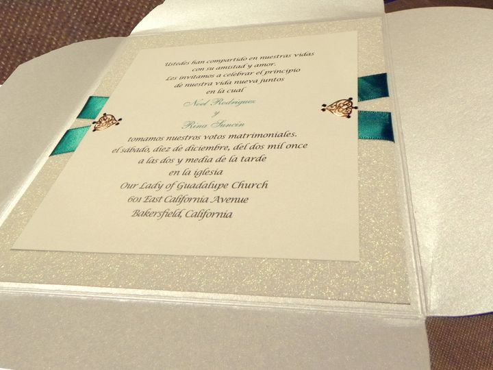 Tmx 1391163369775 Closeup Of Design  Bakersfield wedding invitation