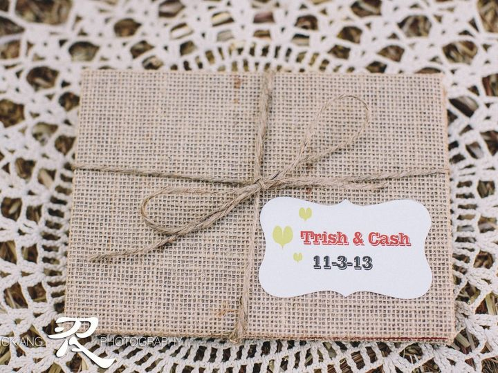 Tmx 1391226889004 Burlap Invitation Outside Vie Bakersfield wedding invitation
