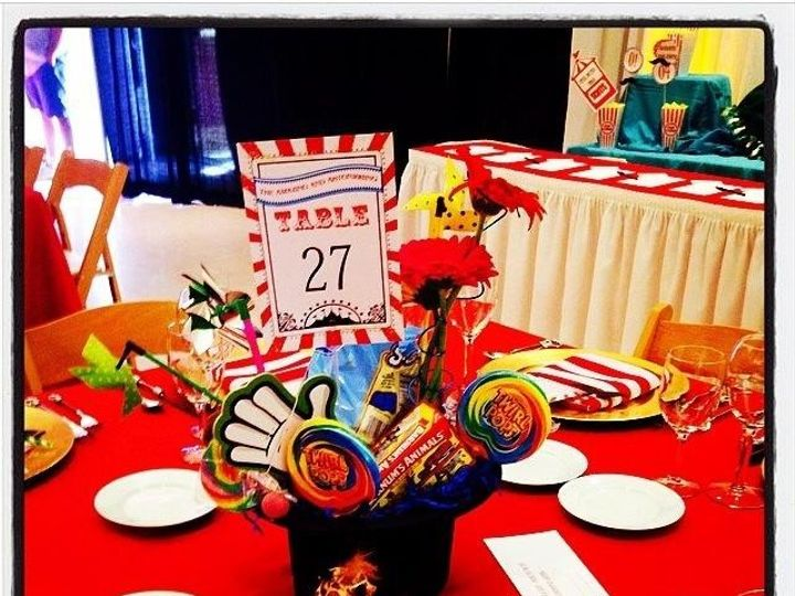 Tmx 1399957705398 Circus Theme Table Number Bakersfield wedding invitation