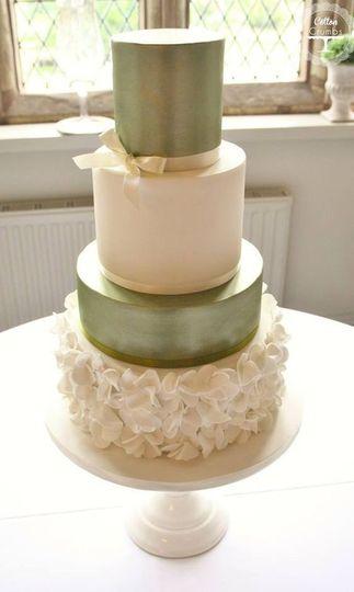 White and green cake