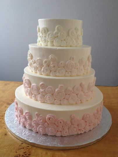 Four tier pink cake