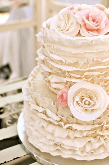 Ruffled cake