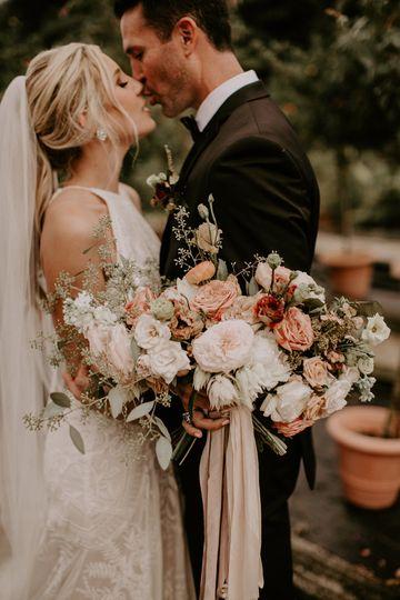 Romantic soft summer bouquet