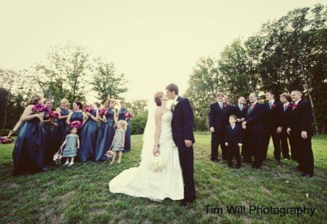 Second kiss as Mr & Mrs