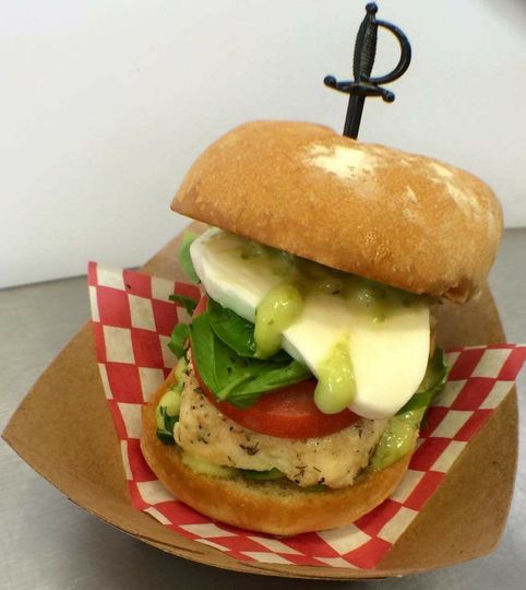Chicken Caprese Slider