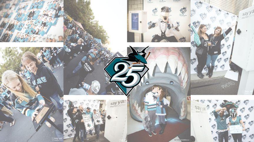 san jose sharkssay ya photobooth