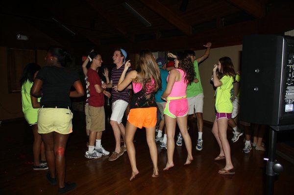 Eastside H.S. soccer teams party for Francesco's birthday.  Everyone dancing to Nicki Minaj.