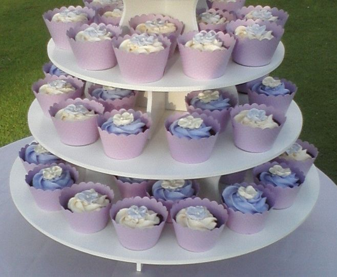 Cupcakes can be coordinated to match your wedding.